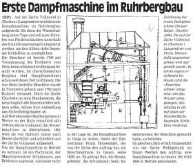 Konstruktionszeichnung einer Dampfmaschine